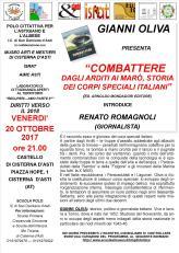 volantino 20 OTTOBRE 2017 -COMBATTERE - OLIVA-ROMAGNOLI